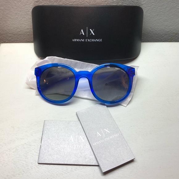 6a73e4344e1c Armani Exchange Pool Blue Mod Sunglasses NWT